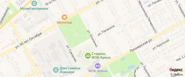 Улица Осипенко на карте Семенова с номерами домов