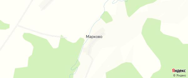 Карта деревни Марково города Семенова в Нижегородской области с улицами и номерами домов