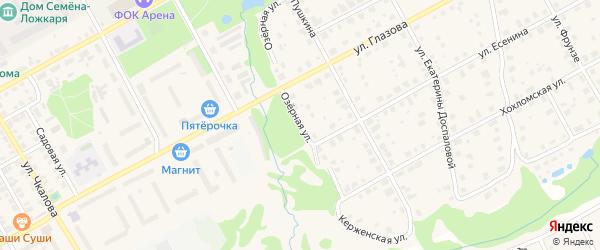 Озерная улица на карте поселка Тарасихи с номерами домов