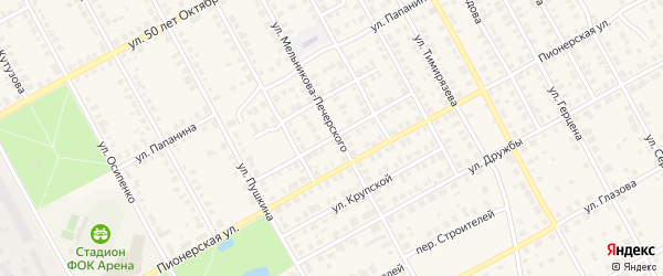 Улица Маяковского на карте Семенова с номерами домов