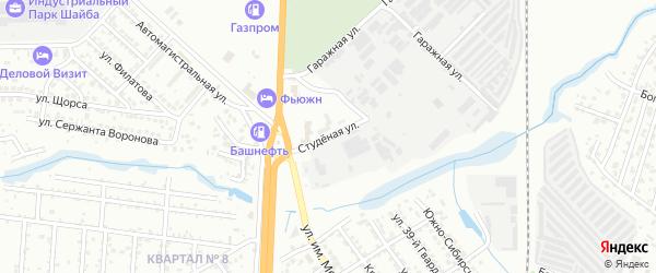 Студеная улица на карте Волгограда с номерами домов