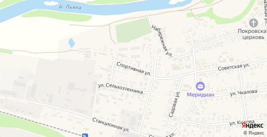 Спортивная улица в Перевозе с номерами домов на карте. Спутник и схема онлайн