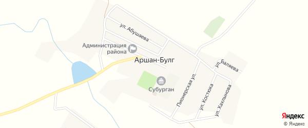 Первомайская улица на карте поселка Аршана-Булга Калмыкии с номерами домов