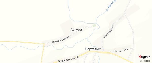 Карта деревни Авгуры в Мордовии с улицами и номерами домов