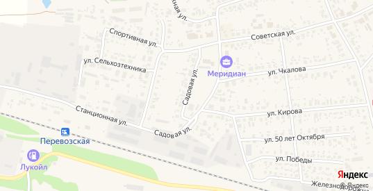 Садовая улица в Перевозе с номерами домов на карте. Спутник и схема онлайн