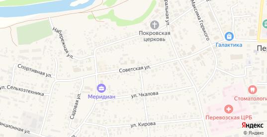 Советская улица в Перевозе с номерами домов на карте. Спутник и схема онлайн