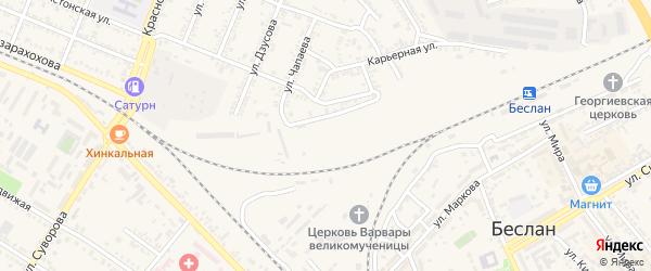 Переулок К.Ходова на карте Беслана с номерами домов