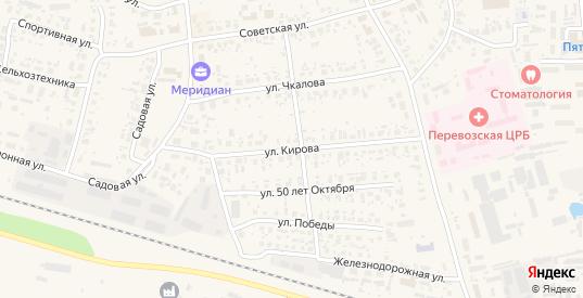 Улица Кирова в Перевозе с номерами домов на карте. Спутник и схема онлайн