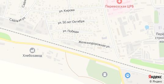 Железнодорожная улица в Перевозе с номерами домов на карте. Спутник и схема онлайн