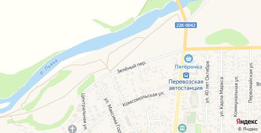 Зеленый переулок в Перевозе с номерами домов на карте. Спутник и схема онлайн