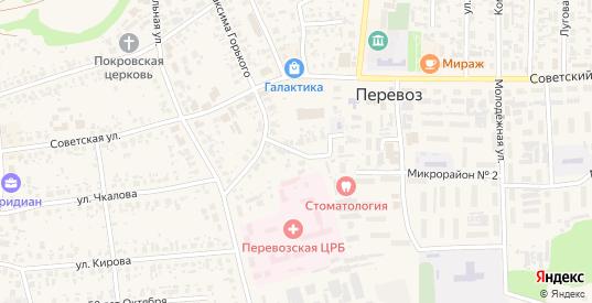 Парковый переулок в Перевозе с номерами домов на карте. Спутник и схема онлайн