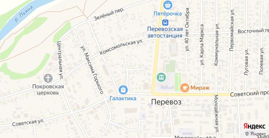 Школьный переулок в Перевозе с номерами домов на карте. Спутник и схема онлайн