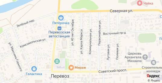 Улица Карла Маркса в Перевозе с номерами домов на карте. Спутник и схема онлайн