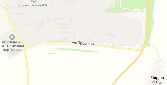Улица Промзона в Перевозе с номерами домов на карте. Спутник и схема онлайн