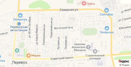 Полевая улица в Перевозе с номерами домов на карте. Спутник и схема онлайн