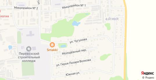 Улица Чугунова в Перевозе с номерами домов на карте. Спутник и схема онлайн