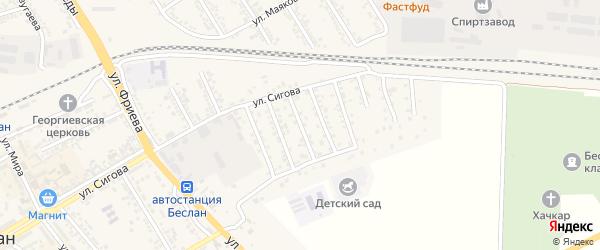 Переулок Г.Цоколаева на карте Беслана с номерами домов