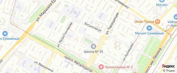 Демократический переулок на карте Волгограда с номерами домов