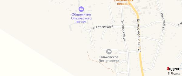 Юго-Западная улица на карте села Ольховки Волгоградской области с номерами домов