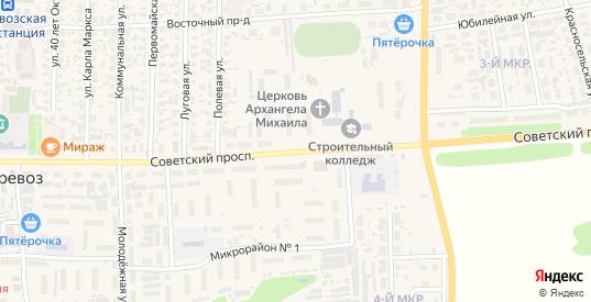Советский проспект в Перевозе с номерами домов на карте. Спутник и схема онлайн