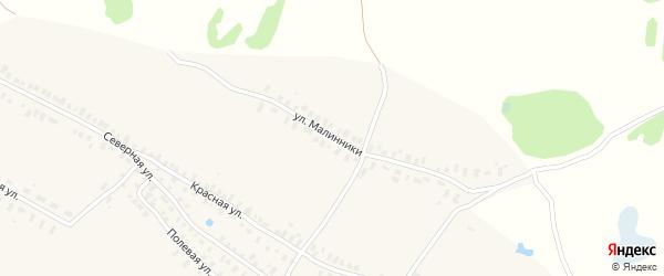 Улица Малинники на карте села Ямново (Ямновский с/с) с номерами домов