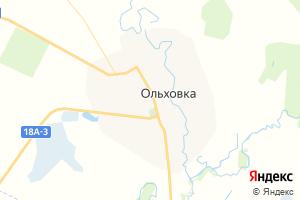 Карта с. Ольховка Волгоградская область