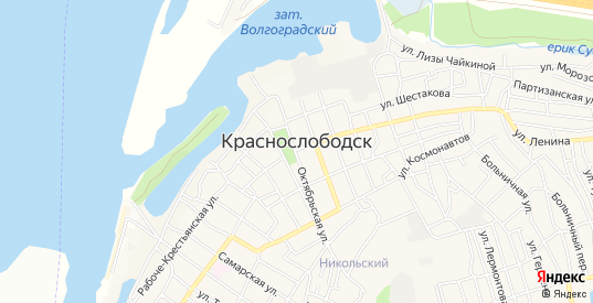 Карта хутора Сахарный в Краснослободске с улицами, домами и почтовыми отделениями со спутника онлайн