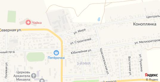 Улица Строителей в Перевозе с номерами домов на карте. Спутник и схема онлайн