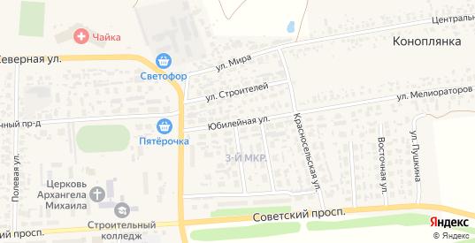 Юбилейная улица в Перевозе с номерами домов на карте. Спутник и схема онлайн