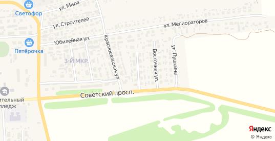 Красносельский переулок в Перевозе с номерами домов на карте. Спутник и схема онлайн