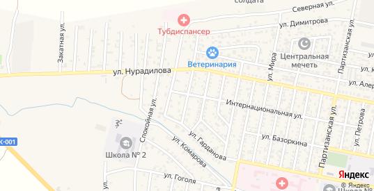 Юбилейная улица в Малгобеке с номерами домов на карте. Спутник и схема онлайн