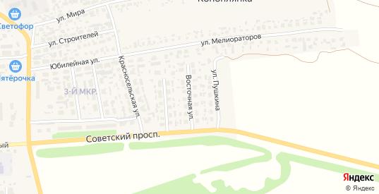 Восточная улица в Перевозе с номерами домов на карте. Спутник и схема онлайн
