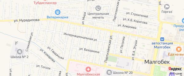Улица Маяковского на карте Малгобека с номерами домов