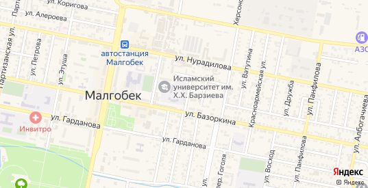 Юго-Западная улица в Малгобеке с номерами домов на карте. Спутник и схема онлайн