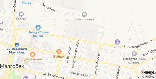 Промышленная улица в Малгобеке с номерами домов на карте. Спутник и схема онлайн