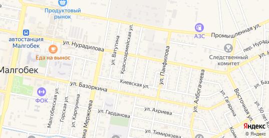 Улица Бутырина в Малгобеке с номерами домов на карте. Спутник и схема онлайн
