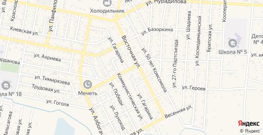 Гвардейская улица в Малгобеке с номерами домов на карте. Спутник и схема онлайн