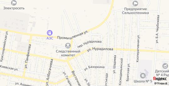 Переулок Нурадилова в Малгобеке с номерами домов на карте. Спутник и схема онлайн