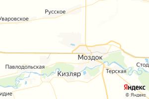 Карта г. Моздок Республика Северная Осетия-Алания