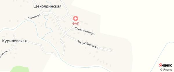 Спортивная улица на карте Щеколдинской деревни с номерами домов