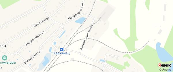 Железнодорожная улица на карте деревни Беласовки с номерами домов