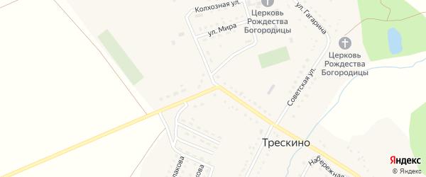 Транспортная улица на карте села Трескино Пензенской области с номерами домов