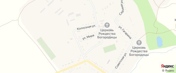 Улица Мира на карте села Трескино Пензенской области с номерами домов