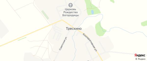 Карта села Трескино в Пензенской области с улицами и номерами домов