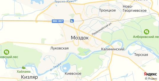 Карта Моздока с улицами и домами подробная. Показать со спутника номера домов онлайн
