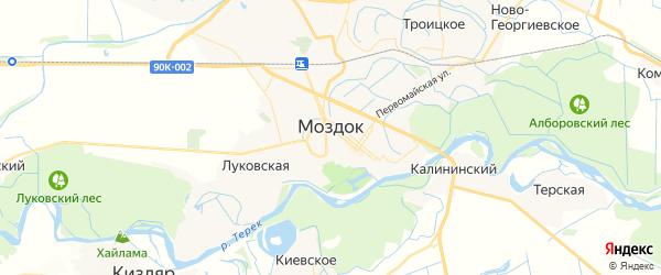 Карта Моздока с районами, улицами и номерами домов