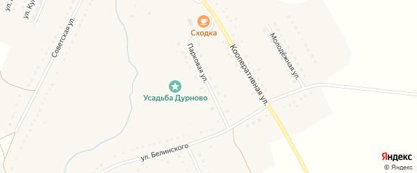 Парковая улица на карте села Трескино Пензенской области с номерами домов