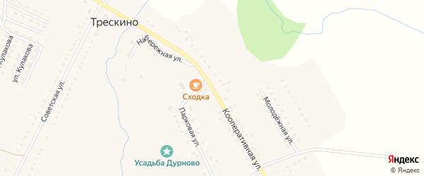Кооперативная улица на карте села Трескино Пензенской области с номерами домов