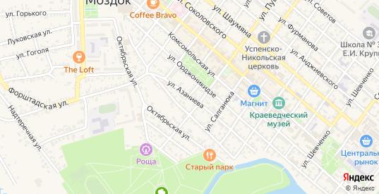 Улица Азаниева в Моздоке с номерами домов на карте. Спутник и схема онлайн