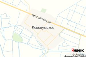 Карта с. Левокумское Ставропольский край
